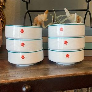 Bundle of 6 Retro America West Airline Bowls ✈️